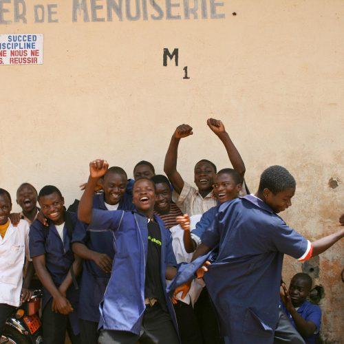 Schüler in Yaoundé, Kamerun